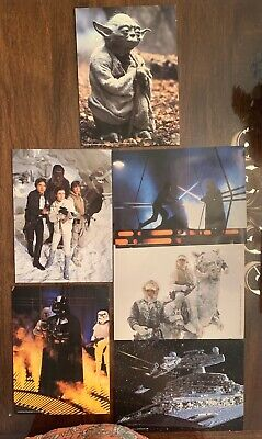 Lot Of Six Colored, Vintage ORIGINAL EMPIRE STRIKES BACK LOBBY CARDS