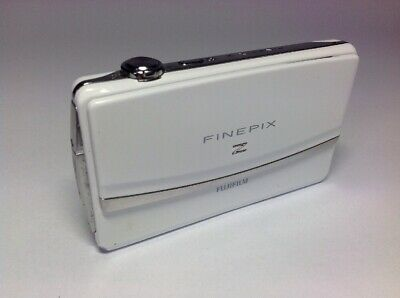 Fuji FinePix Z90 Slider White 14MP 5z Zoom Touchscreen Digital Camera **READ**