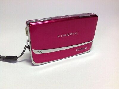 Fuji FinePix Z90 Slider Front Shock Pink 14MP 5z Zoom Touchscreen Digital Camera