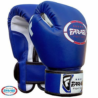 Farabi Kids Boxing gloves kickboxing MMA Muay Thai Punching Mitts 4-oz Pair
