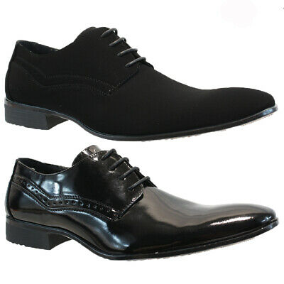 Mens Faux Leather Shoes Smart Wedding Italian Formal Office Dress Work Shoes
