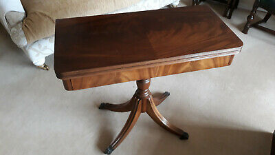 Now £250. Vintage/Antique swivel top card table. Claw and ball feet