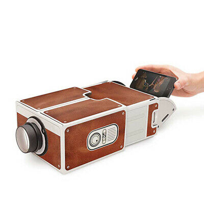 Portable Mini Smart Phone Projector Cinema Home IY Cardboard Projector P9M6