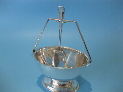 Lovely Little Victorian Antique Silver Plated Jam / Chutney Dish With Spoon
