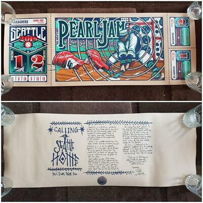 Pearl Jam Seattle Home Shows Poster 8th & 10th August 2018 Klausen RARE! vedder