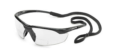 a868b0ee8f64 Gateway Conqueror 2.5 Clear Bifocal Reader Safety Glasses Magnifier W Cord  Z87+