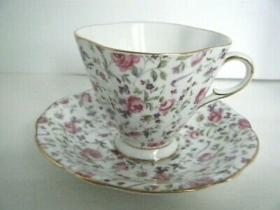 Clarence Bone China Tea Cup & Saucer Made In England