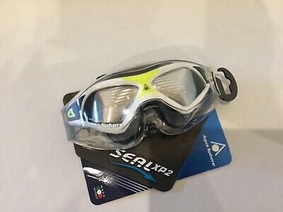Aqua Sphere Seal XP 2 Clear Lens Adult Size Swim Mask Goggles Neon Yellow/White