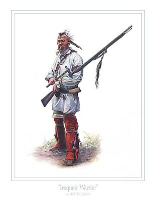 Revolutionary War Iroquois Warrior Print - Giclee 50 signed/numbered