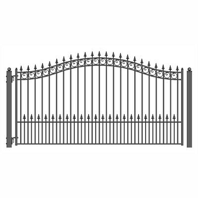 ALEKO Prague Style Ornamental Iron Wrought Single Swing 18' Driveway Gate