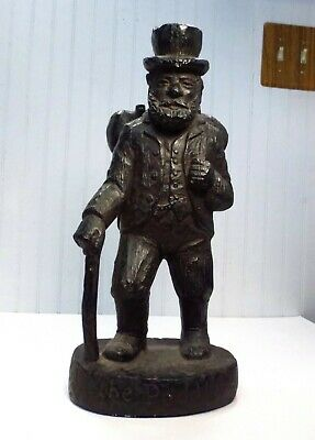 "Vintage 1972 Austin Productions Chalkware ""The Peddler"" Hobo Statue Sculpture"