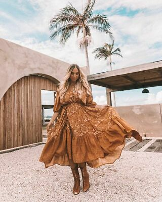 SPELL AND THE GYPSY LIONESS GOWN in CARAMEL M BNWT🦁