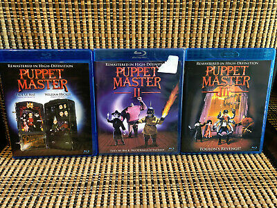 Puppet Master 1-3 (3-Disc Blu-ray)Horror.Full Moon Video.Andre Toulon.