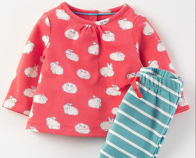 New £28 Mini Boden Baby Supersoft Bunny Rabbit Jersey Pants & Shirt Play Sets