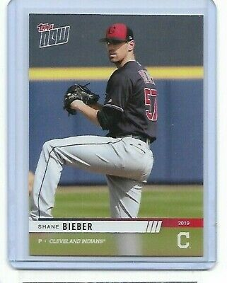 2019 Topps NOW Indians Road to Opening Day #OD-105 Shane Bieber PR 118