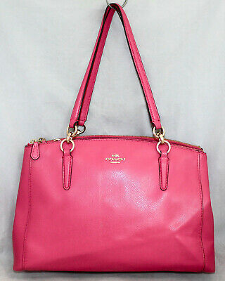 27f1d5f548 COACH F36606 Christie Carryall Convertible Satchel Tote Pink Crossgrain  Leather