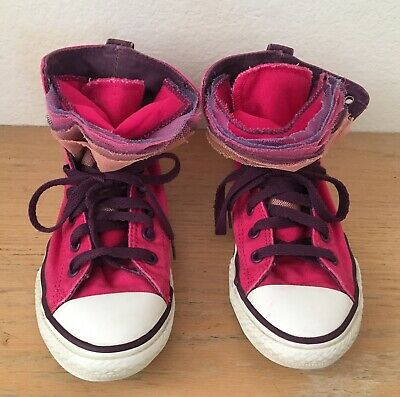 57e174191ce3f Converse All Star Chuck Taylor Rose Violet Volants Langue Haut Baskets 3
