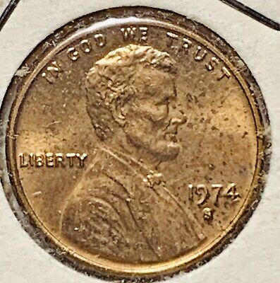 1974 S  Lincoln Memorial Cent Beautiful Red Brilliant Uncirculated (570)