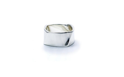 e25d30e75f797 TIFFANY & CO. Frank Gehry Sterling Silver Size 5 Torque Bead Ring ...