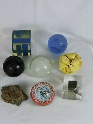 Paper Weights artistic decorative vareity of shapes and colors