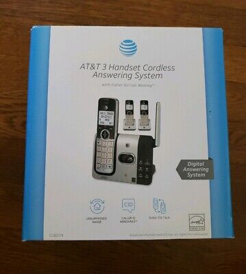 AT&T 3 Handset Cordless Phone Answering System & Caller ID Direct 6.0 Expandable