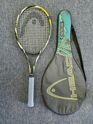 "Head Twin Tube Radical Tour Mid Plus Made In Austria 4 3/8"" Tennis Racquet USED"