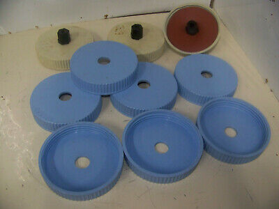 Lot of 10 Bellco Spinner Flask Lids 100 mm with Center Hole Caps for 1 Liter