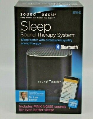 Sound Oasis Sleep Sound Therapy System Bluetooth + 20 Sounds New Sealed.