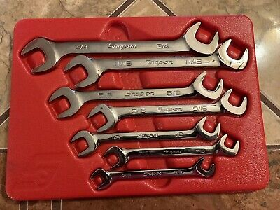 Snap-On 7PC Open Ended Wrenches PAKLD176 3/8-3/4 Standard Nice!!