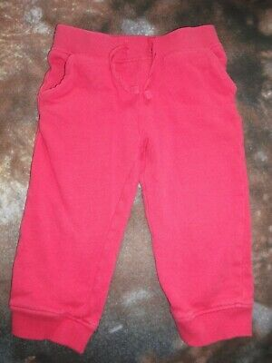 Girls Coral Fleece Lined Joggers - Age 18-24 Months