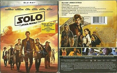 Solo A Star Wars Story Woody Harrelson Blu-Ray & Bonus Disc With Slipcover