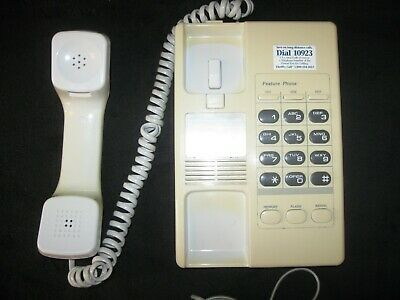 VINTAGE SEARS CORDED TELEPHONE MODEL #34505 IVORY COLORED w/TELEPHONE LINE
