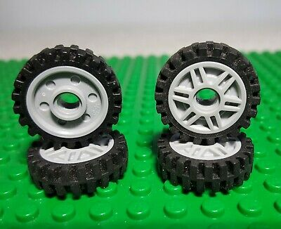 Qty x6 Modified 2x2 with Wheels Holder Bulk Lot Lego Part No.4600 Black Plate