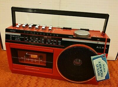 Alba Cr 60 Cassette Tape Radio Red Vintage With tag battery dc