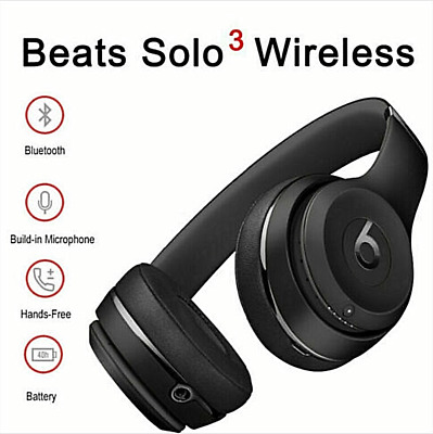 Beats by Dr. Dre Solo3 Wireless On-Ear Headband W1 Chip Headphones - Matte Black