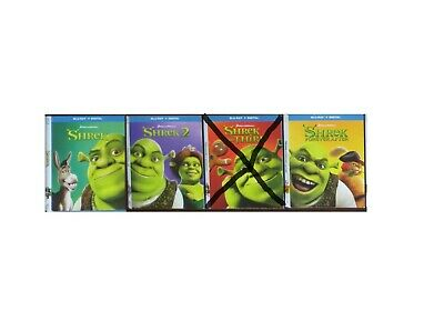 CHOOSE 1 - DREAMWORKS 2018 SHREK 1,2, or 4 BLU-RAY SLIPCOVER ONLY (NO MOVIES)