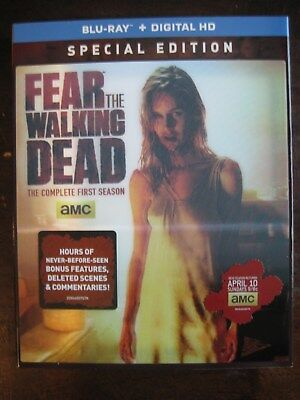 Fear The Walking Dead Season One 1 Lenticular Blu-Ray Slipcover Only (No Movie)