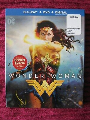 Dc Wonder Woman Blu-Ray Slipcover Only (No Movie) Free Shipping! - Rare Oop Htf