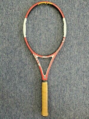 "Wilson Ncode Six-One Tour 90 16x19 Roger Federer 4 1/4"" Tennis Racquet USED"