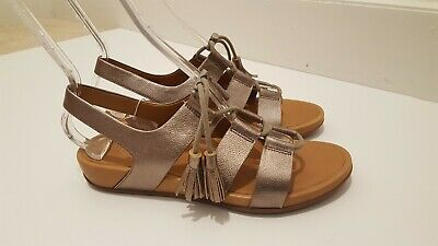 Bronze Walking Women's Gladdie Sandals 9150 Up Comfort Leather Fitflop Lace XNPknw80O