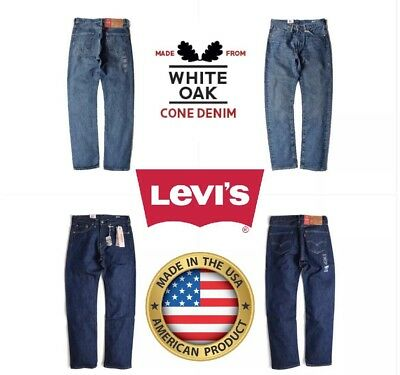 ac9497646f46 New Premium Mens Levis 505 Regular Fit Made In Usa Stonewash Blue All Sizes