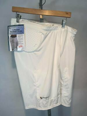Stromgren 1551C 5-Pocket Antimicrobial Wicking Football Girdle w//Cup Pocket
