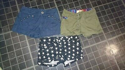 Bundle Of 3 Girls Shorts Age 7-8