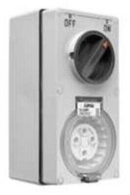 Clipsal 56-SERIES SWITCHED SOCKET 500V 4-Pin Round, Vertical GREY-10A,20A Or 32A
