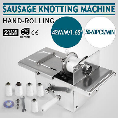 Sausage Tying Knotting Machine 42mm Commercial Sausage Making Stainless Steel