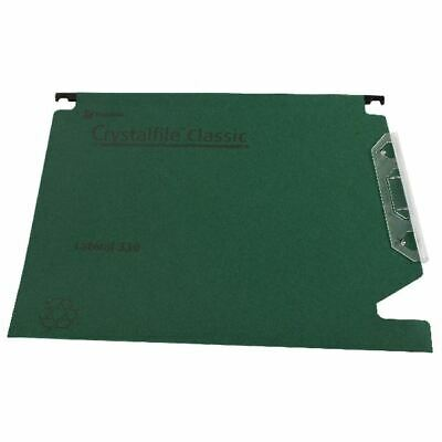Rexel Crystalfile Classic ���330��� Lateral File 15mm Green (50) 70670