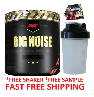Redcon 1 Big Noise 315G Non Stim Preworkout Pump Agmatine Use With Total War