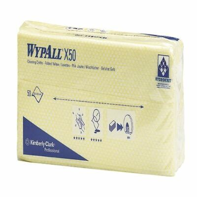 WypAll X50 Cleaning Cloths Absorbent Strong Non-woven Tear-resistant Yellow Ref