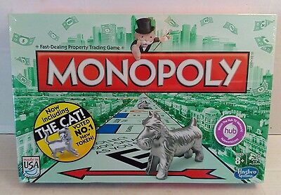 Factory Sealed Monopoly Dog Cat Edition USA 2013 Hasbro Boardgame