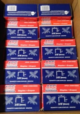 "Contractor Lot 10 boxes of 5000 STAPLES 3.8"" Arrow Ht-50, WM-11, Rapid 11 50k"